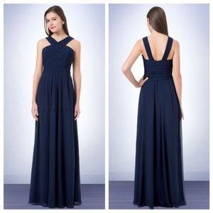 NWOT Bill Levkoff Bridesmaid Dress Style 1218 Navy